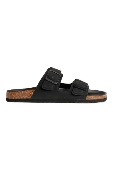Footbed slide sandals - Black -  | H&M CN